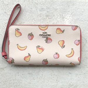 COACH Fruit Zip CELL CASE WRISTLET WALLET CLUTCH